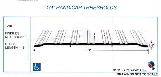 Thresholds Ada Combo Sills Weather Strip Door Shoes