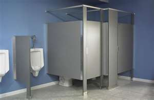 COMMERCIAL RESTROOM TOILET PARTITIONS AND URINAL SCREENS - Commercial bathroom partition hardware
