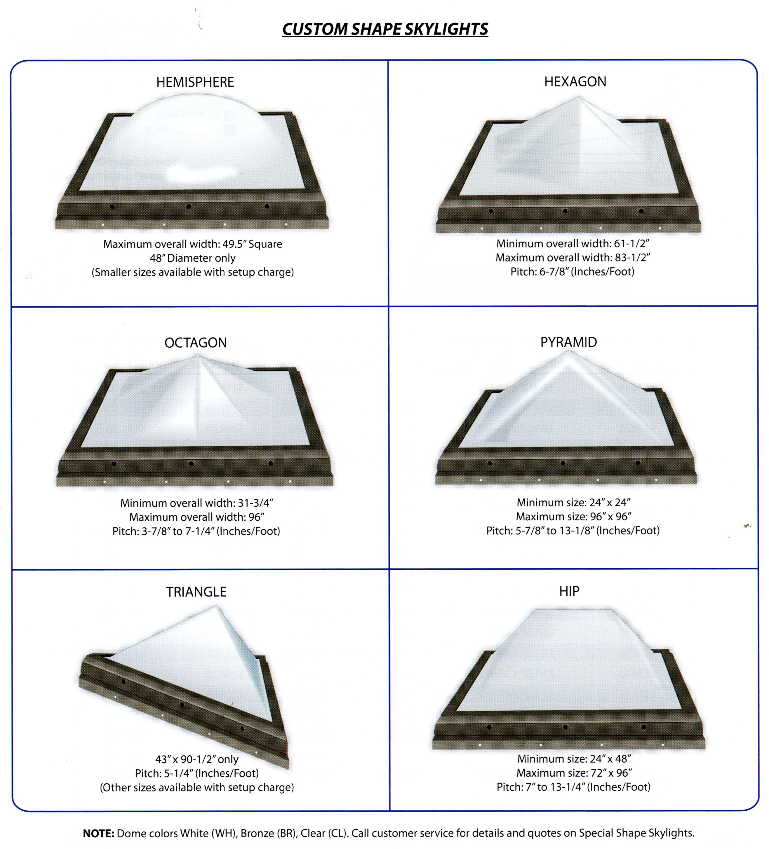 Skylights By Truframe Acrylic Flat Glass Fixed Or Open Air